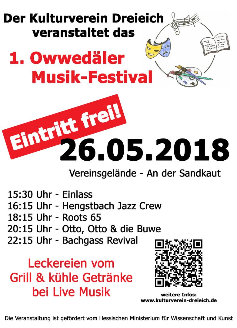 Kulturverein Dreieich e.V. - 1. Owwedäler Musik-Festival